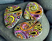 It's Hip to be Square / Stone Magnet Set / Sandi Pike Foundas / Cape Cod. $29.00, via Etsy.