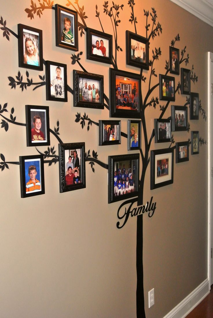 Family Tree Wall Display:  Tree application is from Target.... this was time consuming but well worth it.