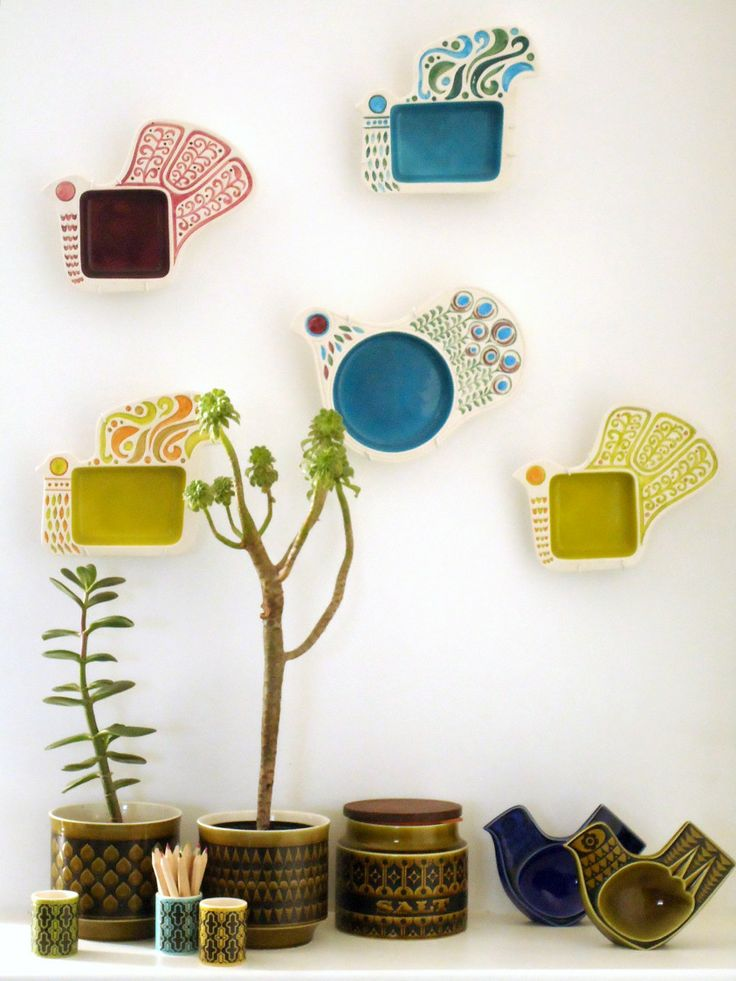 Something colourful and quirky on the walls? Hornsea & Carlton Ware