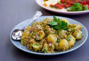 Potatissallad med gröna linser - ZEINAS KITCHEN