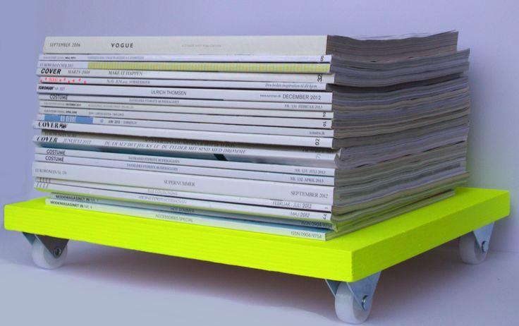 Magasin-opbevaring i neongul farve DIY