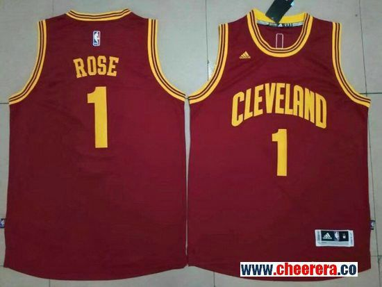 competitive price d3ca1 cdefa Men's Cleveland Cavaliers #1 Derrick Rose Red Stitched NBA ...