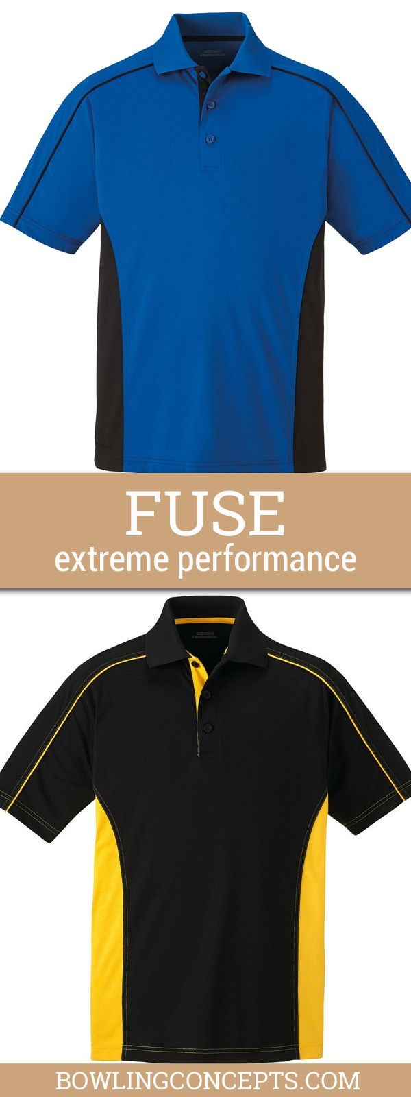 Mens Side Color-Block Moisture Wicking Sport Polo Shirt. Look calm and cool in this high tech extreme e-performance shirt, add you name, team or logo for 'your' game.