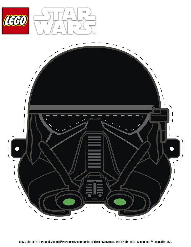 Join the force with this fun LEGO Star Wars print out mask.