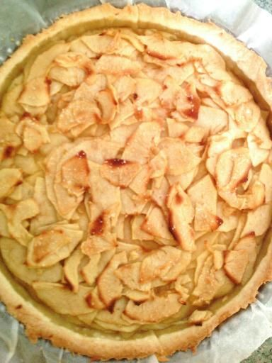 Recette de tarte aux pommes à la crème pâtissière