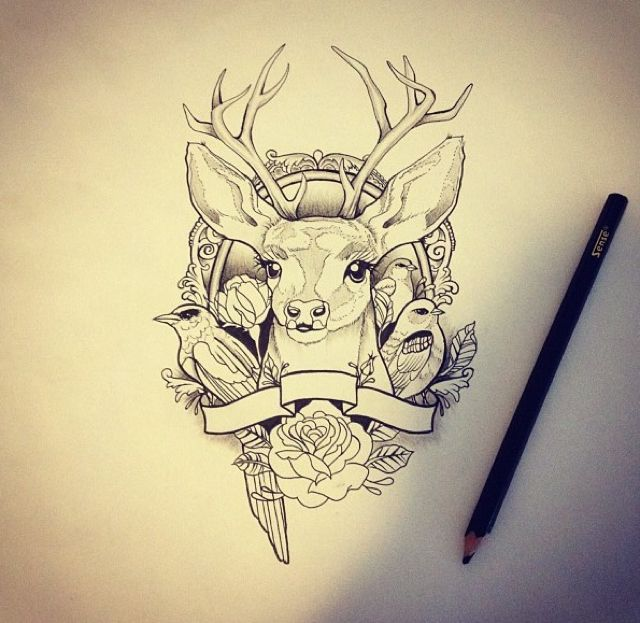 26 Deer Tattoos: Ponad 1000 Pomysłów Na Temat: Wzory Tatuaży Na Pintereście