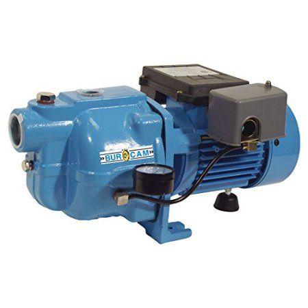BurCam 503221S S.W. Cast Iron Jet Pump, 3/4 hp, 115V/230V, Blue