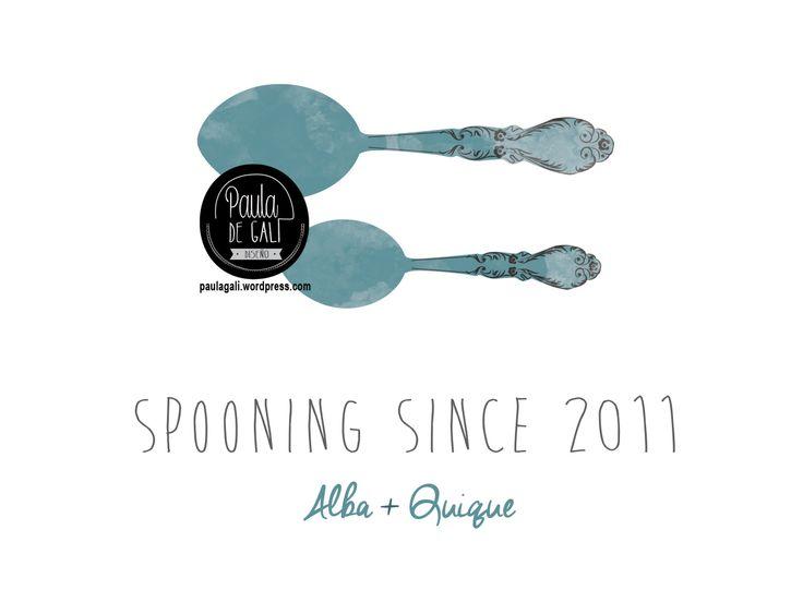 lamina y lienzo personalizado frase spooning since haciendo la cucharilla
