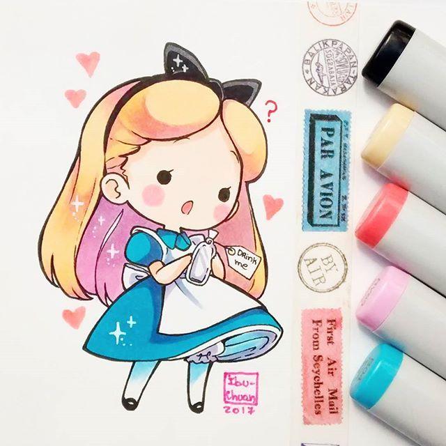 Alicia En El Pais De Las Maravillas Chibi Dibujos Dibujos