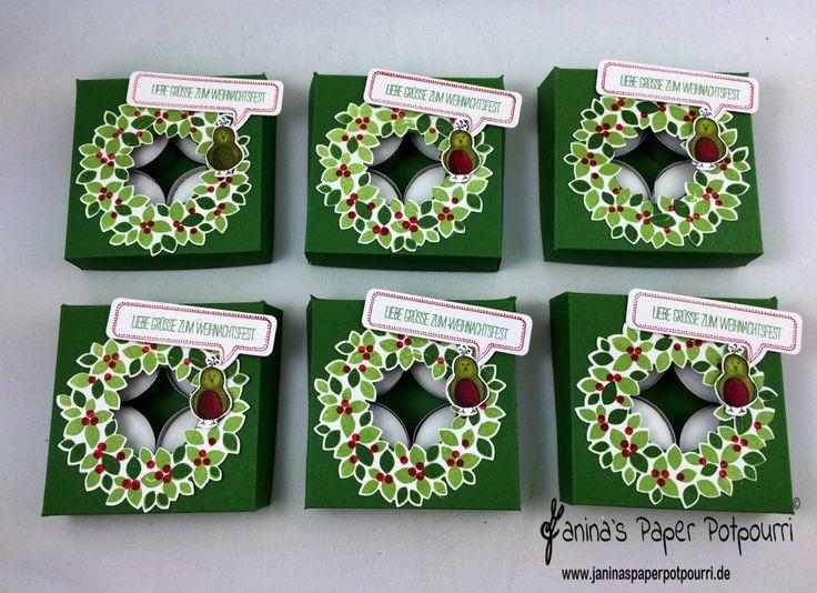 jpp - Adventskranz to go / Christmas Wreath / Teelicht Verpackung / Tealight…