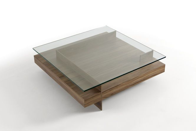 Coffee table / contemporary / wooden base / glass top KETEL by Vicente Gallega KENDO