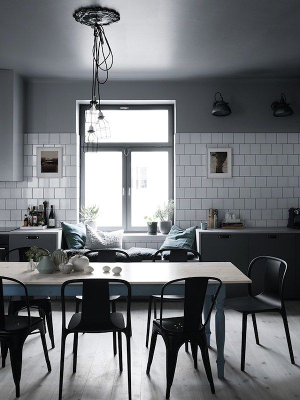 A sophisticated Swedish home in dark shades