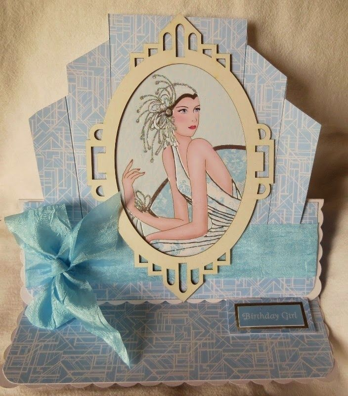 Aspire Crafts. Kanban Deco Ladies paper craft collection - foiled & die cut toppers with co-ordinating card.