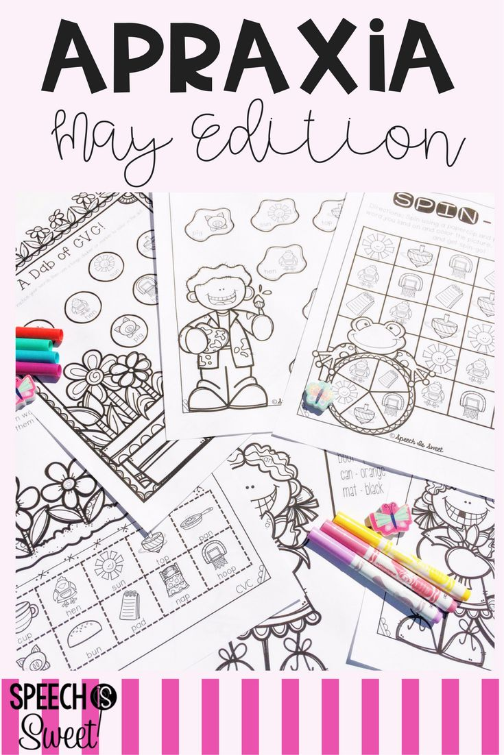 Coloring activities speech therapy - May Apraxia On The Go Speech Therapy
