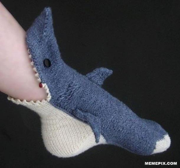 Super cool shark socks...I'm SO getting these