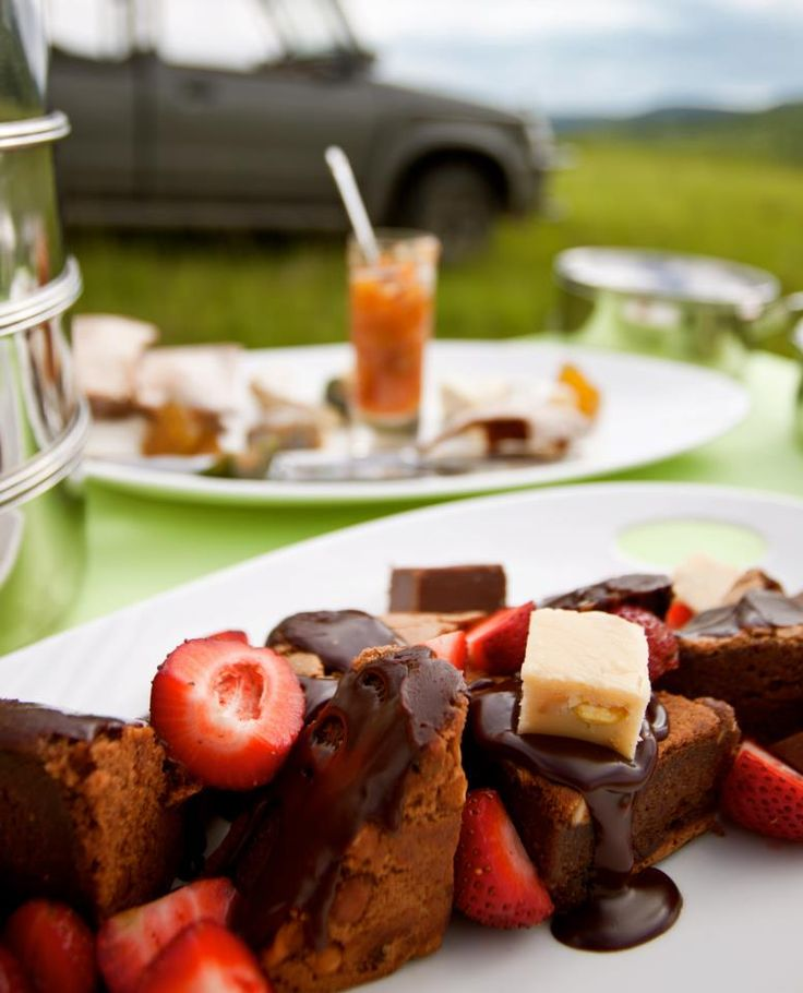 Have a delicious breakfast or lunch while enjoying your African Safari in the open bush surrounded by Giraffe, Zebra, Rhino, birdlife and more. www.karkloofsafarispa.com