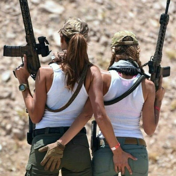 Girls with Guns ❤ http://riflescopescenter.com/category/barska-riflescope-reviews/