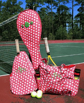 I should get these for our tennis stuff...however I think Michael may disagree...super cute though!
