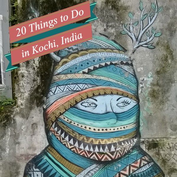 What to do in Kochi, India. #Kerala #StreetArt #travel