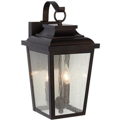 "Irvington Manor 16 3/4"" High Bronze Outdoor Wall Light - #2N103   LampsPlus.com"