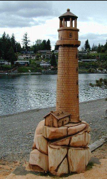 lighthouse for mom's backyard