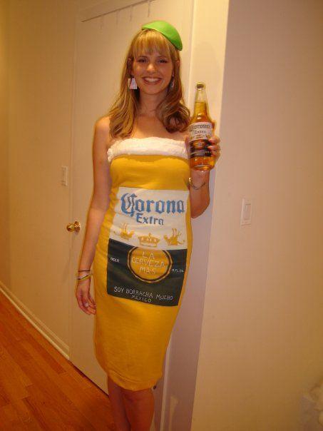Corona beer bottle costume