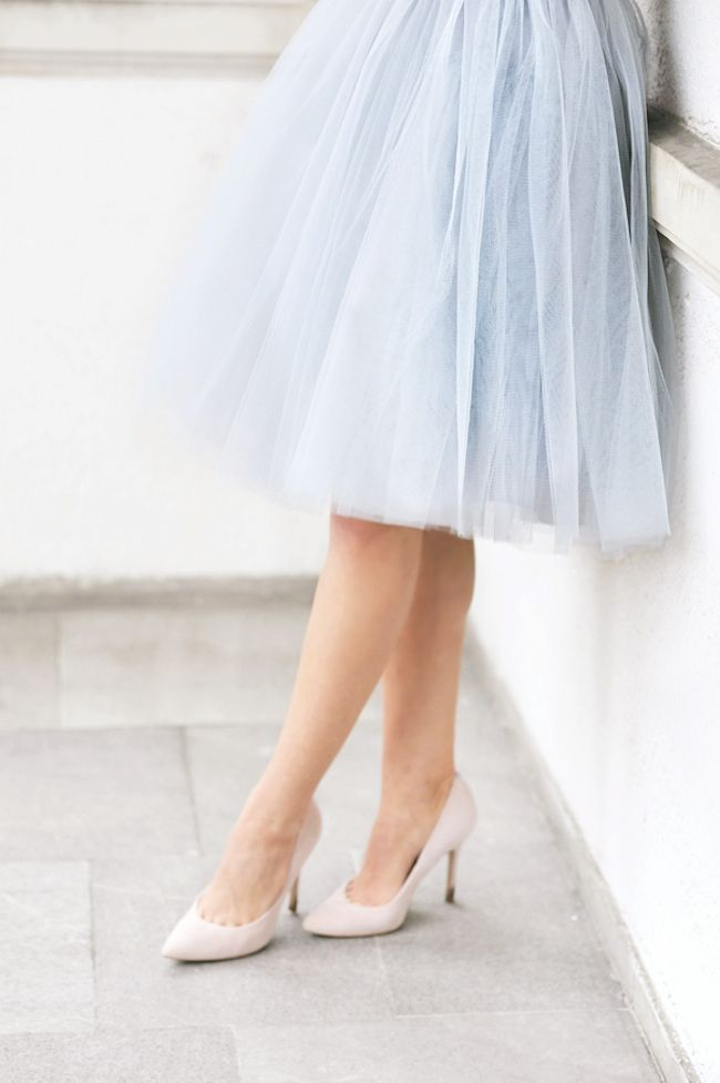 baby blue tulle