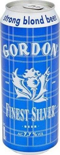 GORDON Finest Silver 50cl 7.7% GORDON Finest Silver is a rounded beer as a polished diamond, this blonde beer color and taste will seduce the amateur strong lager with a hoppy finesse, it is simply exquisite. It shows his character distilling on its second layer, momentum Alcoholic not too keen but forming its final crown. Buy to: www.chockies.net