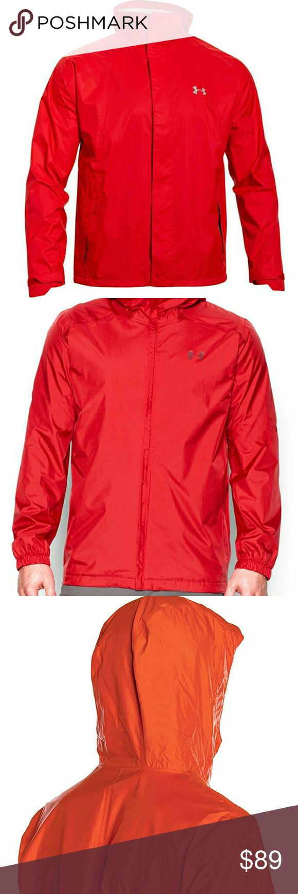 New  Under Armour Men's Storm Surge Waterproof Jac Condition: NWT  Size: Medium  Color : Dark  Orange  Material:  100% Polyester  Details:  Waterproof, Windproof Under Armour Jackets & Coats Performance Jackets
