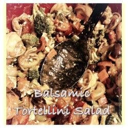 Balsamic Tortellini Salad; tortellini, feta cheese and kalamata olives ...