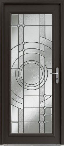 Porte aluminium, Porte entree, Bel'm, Contemporaine, Poignee plaque gris deco bel'm, Grand vitrage, Double vitrage, Vitrail decoratif, Isolation phonique, Luminosite, Arapao