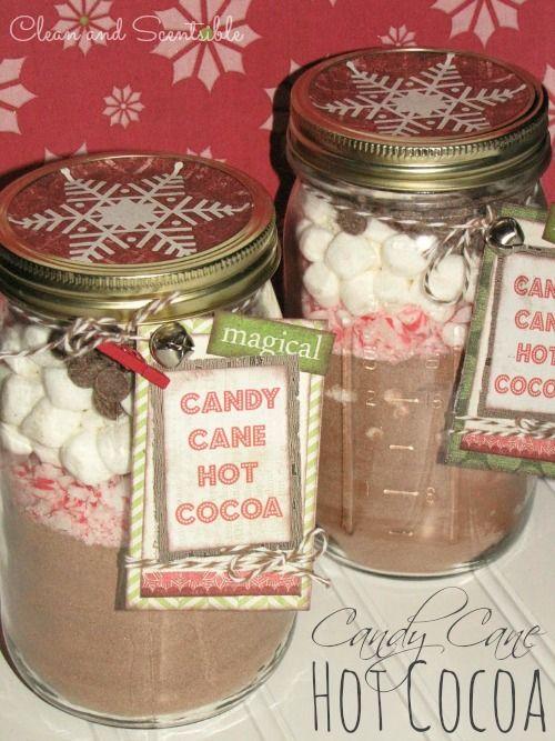 Candy Cane Hot Cocoa - great teacher or hostess gift idea!
