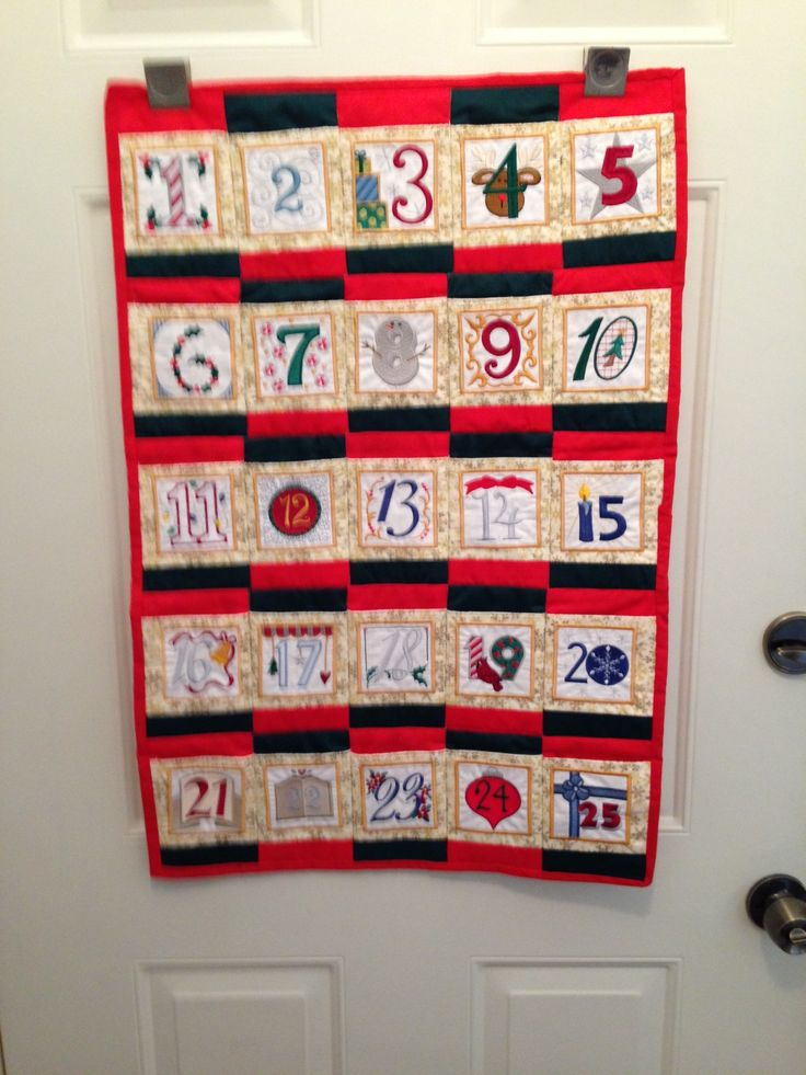 Advent calendar machine embroidery from anita goodesign - Pinterest advent ...