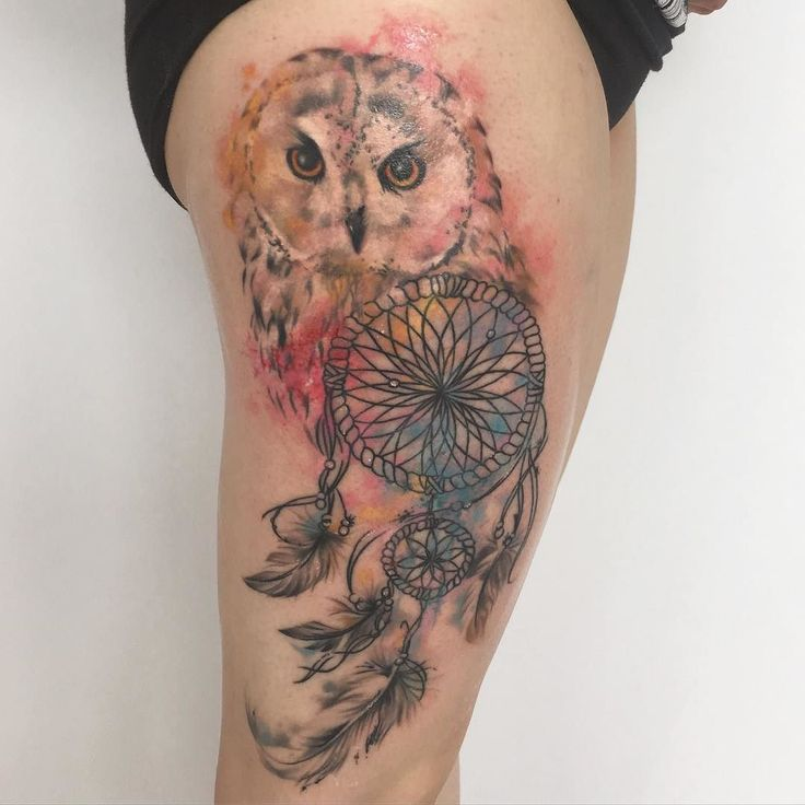 work  #tattoo#tat#ink#tattooartist#art#tattoos#femaletattooartist#inked#inkedup#watercolor#watercolortattoo#aquarell#aquarelltattoo#owl#dreamcatcher#work#inkcouture#inkcouturetattooart#christina#artist# by ina182w