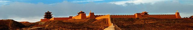 The pass is located at the narrowest point of the western section of the Hexi Corridor, 6 kilometres (3.7 mi) southwest of the city of Jiayuguan in Gansu. The structure lies between two hills, one of which is called Jiayuguan Pass. It was built near an oasis that was then on the extreme western edge of China.