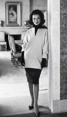 A portrait of Princess Lee Radziwill, voted among the World's Best Dressed Women for 1962 in the annual International Fashion Poll.