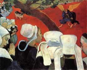 The Vision after the Sermon (Jacob wrestling with the Angel) - Paul Gauguin