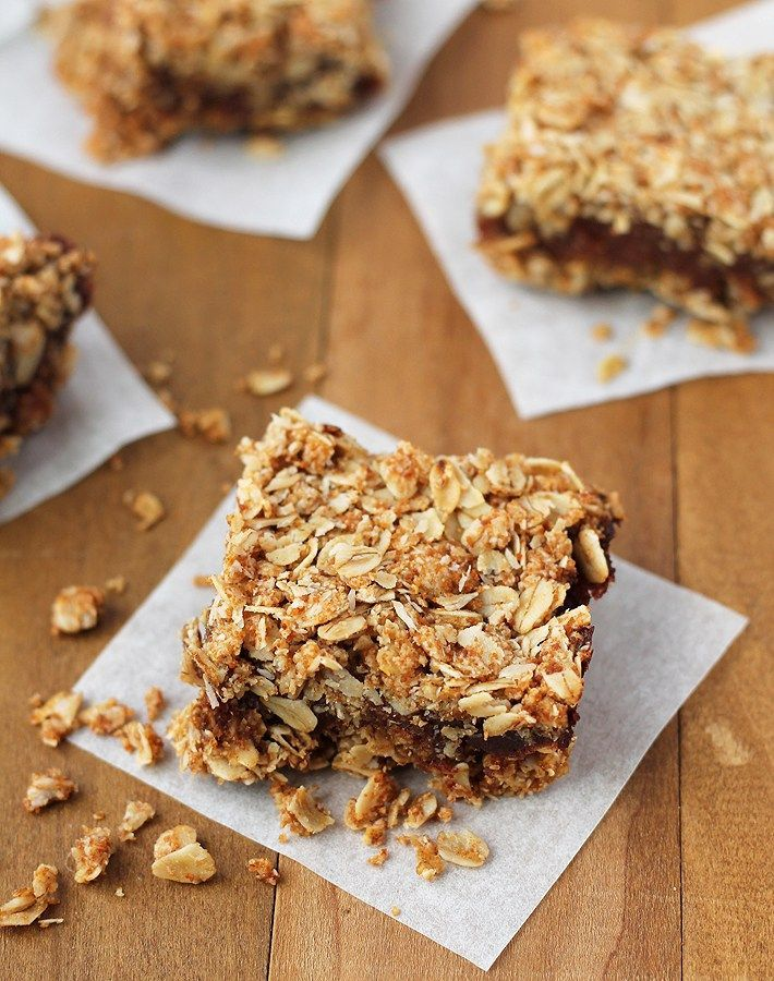 Add a little twist to traditional date squares with these Date Coconut Squares! Not only do they contain coconut, they're also vegan and gluten free! DelightfulAdventures.com