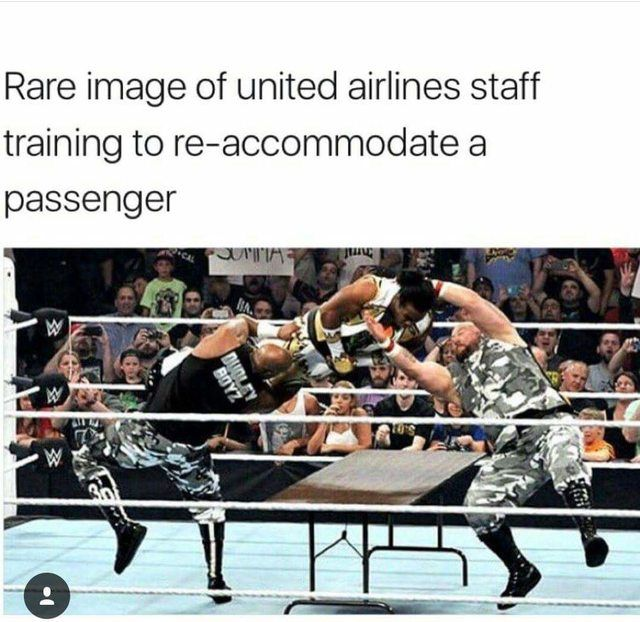 Rare image of United airlines staff training. : memes