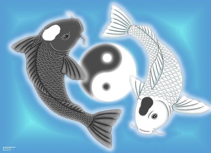 44 best koi yin yang tattoos images on pinterest for Yin yang fish