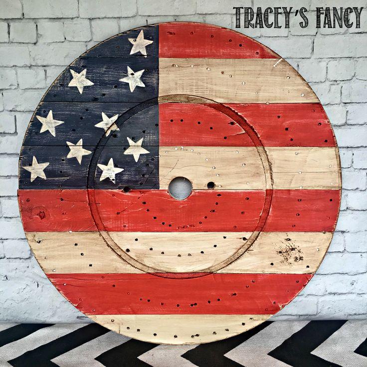 Patriotic Flag Spool Art