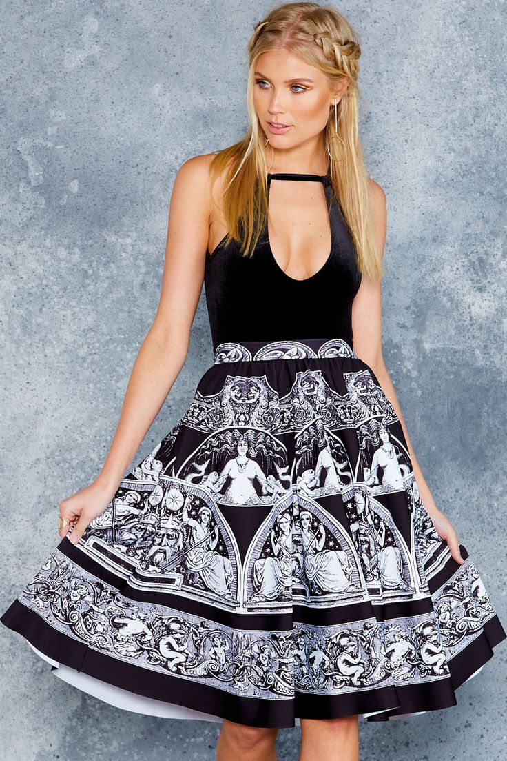 All Greek To Me Pocket Midi Skirt - 48HR ($110AUD) by BlackMilk Clothing