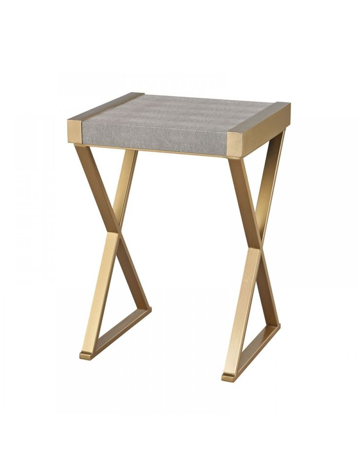 Nicholine Accent Table, Gray and Gold
