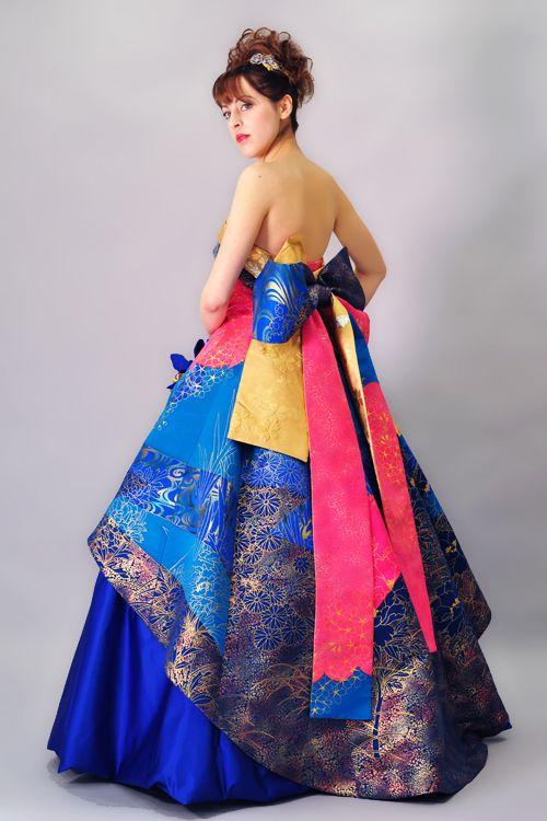 Sum dress kimono dress bellflower