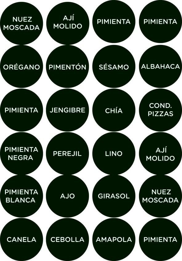Resultado de imagen para etiquetas EN CASTELLANO para imprimir gratis condimentos