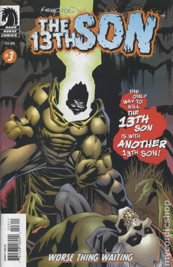 13th Son Worse Thing Waiting (2005) 3  Dark Horse Comic Book cover Modern Age