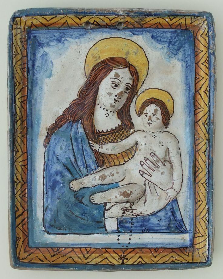 Beata Vergine dell'Olmo (o di Budrio). Ceramica policroma, Romagna, sec. XVIII