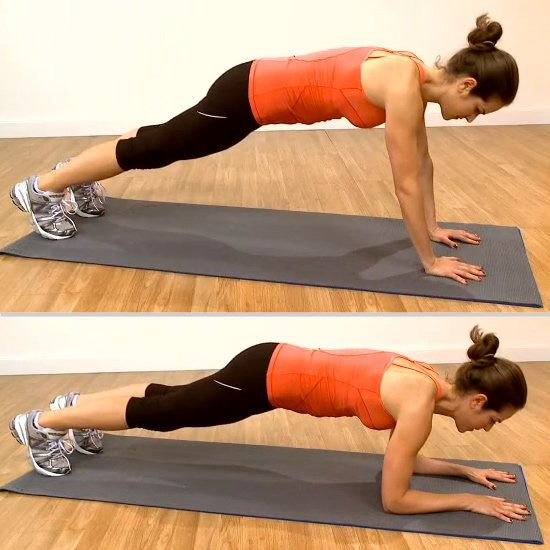 A No-Equipment Total-Body Workout For Any Space: Up-Down Plank | FitSugar