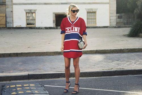 celine football jersey dress