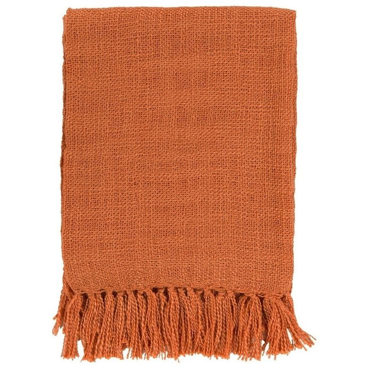 Belize Burnt Orange Throw Blanket